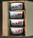 文山 3.5号 磁器 赤絵山水 さつき鉢 箱入 和風 植木鉢 ミニ 盆栽鉢