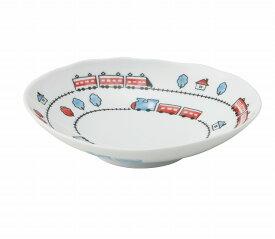 トレイン 電車 子ども おかず皿 6号 楕円 深皿