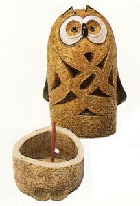 フクロウ香炉贈り物ギフト プレゼント プチギフト お線香立て 販売 御香 お香 香炉 アロマ 癒しグッズ 内祝い 快気祝い 引越し祝い 新築祝い
