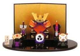錦彩出世兜飾り(大)(陶器/五月人形)