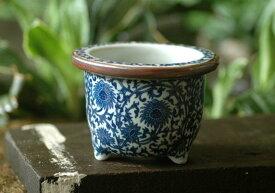 【植木鉢】5号唐草丸【和風植木鉢 ミニ盆栽鉢 陶器 磁器】