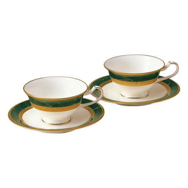 ノリタケ フィッツジェラルド シリーズ ティー・コーヒー碗皿ペア y6988_4712