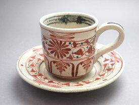 【萬古焼 冬柴文廣作】コーヒー碗皿
