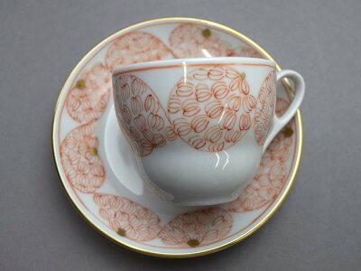 【九谷焼赤絵】デミタス碗皿