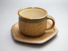 【益子焼 碗皿】カップ&ソーサー