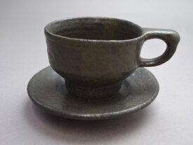 【益子焼 水野正善作】コーヒー碗皿