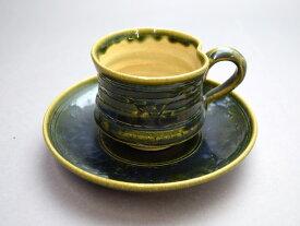 【美濃焼 織部 碗皿】カップ&ソーサー