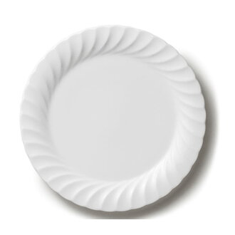 NIKKO(NIKKO)  白色的工具白優雅系列26.5cm晚餐盤子