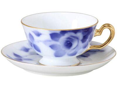 大倉陶園ブルーローズ8011ティー・コーヒー碗皿