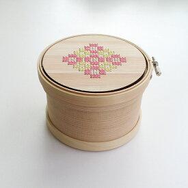 Cohana(コハナ)曲げわっぱの道具箱 こはる刺しゅう枠12cm【手芸/小物入れ】