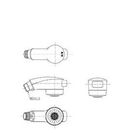 【全品送料無料・即納!】●[TH589-1 #N11]TOTO シャワーヘッド部 TL384型用