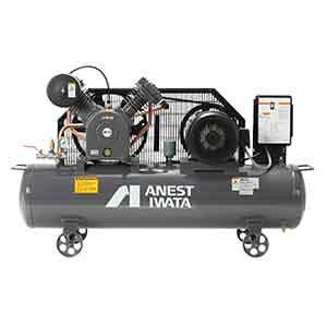 アネスト岩田 コンプレッサー タンクマウントTLP22EG-14-M6 (60Hz用)中圧 給油式 圧力開閉器式 ドライヤー無し 三相200V/2.2kW