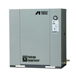 アネスト岩田 パッケージ コンプレッサーCLP37EF-8.5-M5 (50Hz用)給油式 圧力開閉器式 ドライヤー無し 三相200V/3.7kW