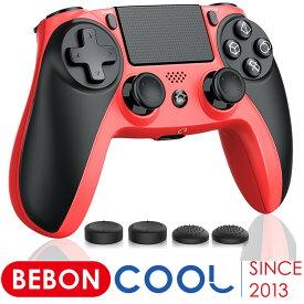 ps4 コントローラー BEBONCOOL ワイヤレス 無線 プレステ4 コントローラー タッチパッド dualshock 4 リモートコントロール 二重振動 900mAh大容量バッテリー ジャロイセンサー イヤホンジャック Bluetooth接続 デュアルショック4/PlayStation 4