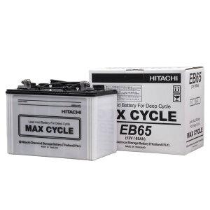 日立化成 日立バッテリーEB-65-LLEBバッテリー MAX CYCLE サイクルサービス用(電動カート他) LL端子[配送区分:中型30kg]