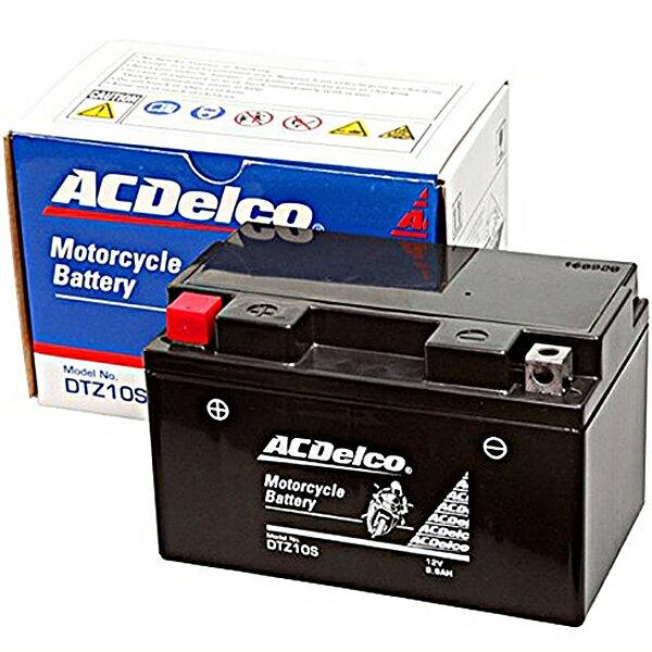 ACDelco ACデルコバイク用バッテリー液入充電済みDTZ10S主な互換品番:YTZ10S/FTZ10S/RBTZ10S-N地域限定(本州・四国・九州)送料無料