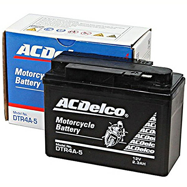 ACDelco ACデルコバイク用バッテリー液入充電済みDTR4A-5主な互換品番:YTR4A-BS/FTR4A-BS/RBTR4A-N地域限定(本州・四国・九州)送料無料
