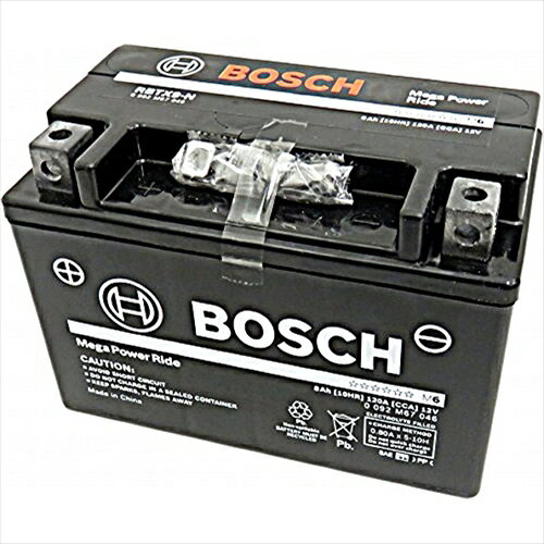 BOSCHバイク用バッテリー液入充電済みRBTX9-N主な互換品番:YTX9-BS/GTX9-BS/FTX9-BS/DTX9-BS/ATX9-BS地域限定(本州・四国・九州)送料無料