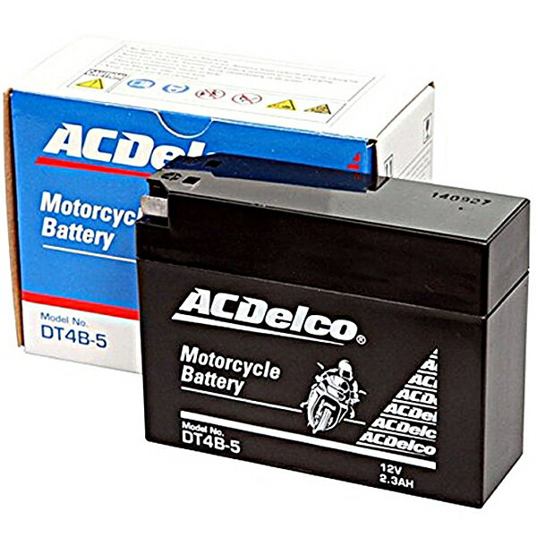 ACDelco ACデルコバイク用バッテリー液入充電済みDT4B-5主な互換品番:YT4B-BS/FT4B-5/RBT4B-5-N地域限定(本州・四国・九州)送料無料