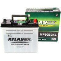 ATLASBXアトラスバッテリーお買い得のATLASAT60B24L主な互換品番:46B24L/55B24L/60B24L