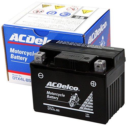 ACDelco ACデルコバイク用バッテリー液入充電済みDTX4L-BS主な互換品番:YTX4L-BS/FTH4L-BS/RBT4L/TX4L-N地域限定(本州・四国・九州)送料無料