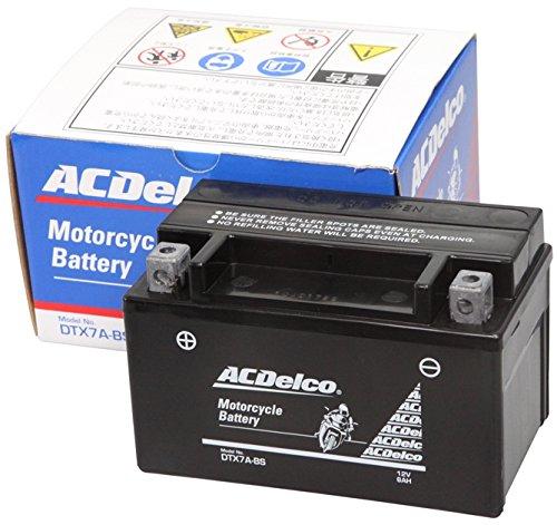 ACDelco ACデルコバイク用バッテリー液入充電済みDTX7A-BS主な互換品番:YTX7A-BS/FTX7A-BS/RBTX7A-N地域限定(本州・四国・九州)送料無料