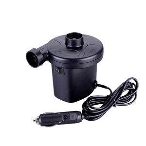 シガー電源式 小型 電動 エアポンプ 空気入れ エアーポンプ 空気抜き 3種 ノズル コンプレッサー 自動 レジャー 海水浴 tecc-atpump12v
