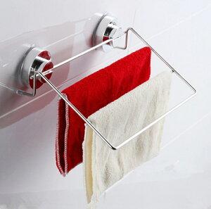 浴室用 タオルラック 吸盤式 ステンレス タオルハンガー 物干し トイレ 洗面所 おしゃれdar-towelrack