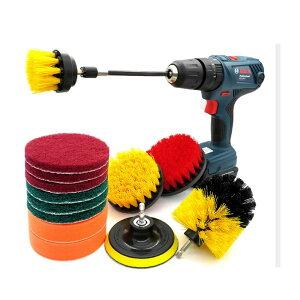 電動ドライバー ブラシ アタッチメント 14点セット ドリルブラシ スクラブパッド スクラバー 掃除 洗車 磨き カーペット tecc-doribra14