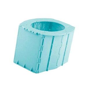折りたたみトイレ ゴミ箱 携帯トイレ ポータブルトイレ 持ち運び簡単 小型 人間工学 便器 収納ボックス 兼用 tecc-mochitoire 非常用
