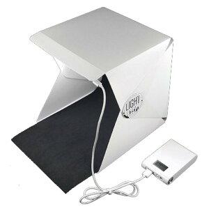 【メール便発送・代引不可】簡易 商品写真 撮影ブース 折り畳み LEDライト搭載 バックスクリーン 背景布 組立て 持ち運び 簡単 フォトスタジオ 画像 TEC-LIGHTROOMD