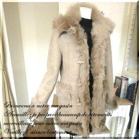 ムートン コート ムートンコート ファー 羊革 毛皮 ジャケット ダッフルコート mouton coat / 130924 ムートン ダッフル コート レディース 女性用 婦人 リアル 送料無料 大きいサイズ 05P03Dec16