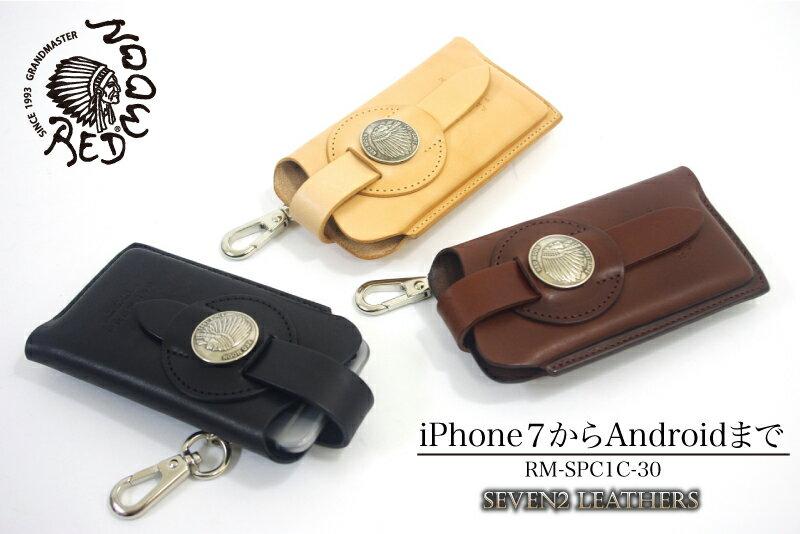 REDMOON レッドムーン スマホケース iphoneケース フック付き 全3色 男女兼用 牛革 RM-SPC-1C-30 【店頭受取対応商品】