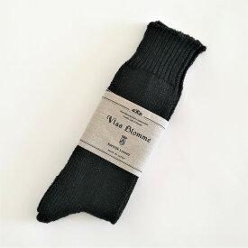 (P+)vlas blomme プレーンソックス 11700899 color:00(black) size:1(ladys22.5〜24) ブラスブラム ソックス 麻 快適 オールシーズン