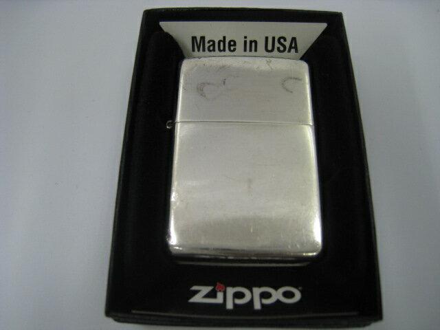【中古】2002年製 平成14年 Zippo ジッポー STERLING SILVER 純銀 オイルライター シルバー