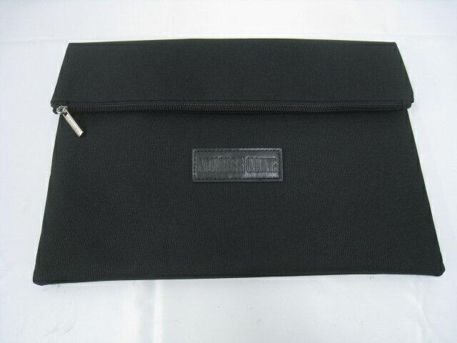 【新品】NUMBER NINE ナンバーナイン Marlboro マルボロ ロゴ 音符 クラッチバッグ 書類ケース A4サイズ ブラック