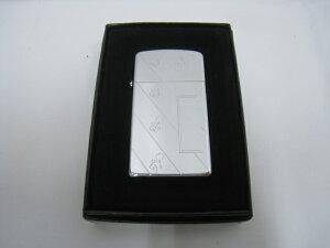 【新品】1965年製 昭和40年 Zippo ジッポー スリム オイルライター 5バレル 16穴 斜めロゴ ビンテージ アンティーク オリジナル 鏡面 シルバー