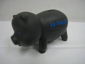 【中古】HOLLYWOOD RANCH MARKET ハリウッドランチマーケット ブタ 貯金箱 ぶた ぶた ピッグ フィギュア ブラック ブルーロゴ