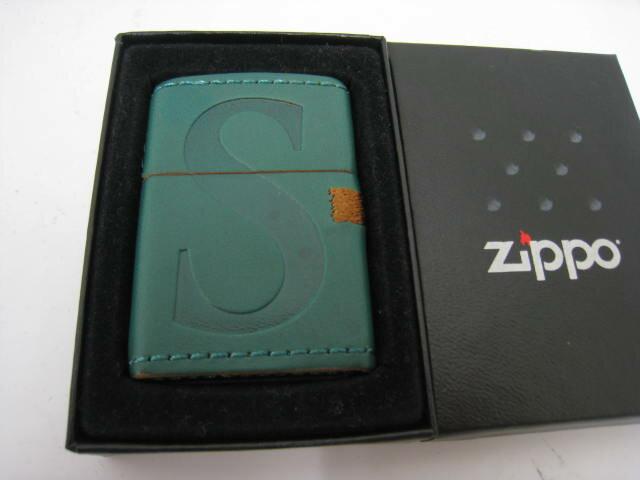 【新品】限定100個 2008年製 平成20年 Zippo ジッポー Seven Stars セブンスター 革巻き レザー グリーン オイルライター SEVENSTARS 緑