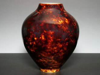 ◆ vase ☆ SR22 tortoiseshell Brown ◆ ceramics imported from selling ☆