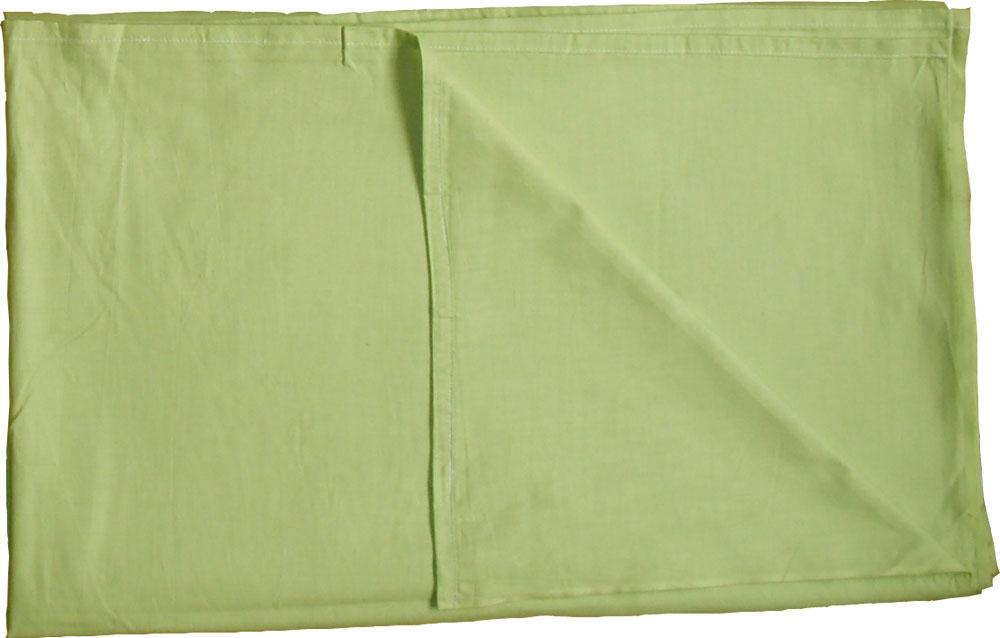 【アウトレット】【業務用】綿100% カラーシーツ 228×290cm ウスグリーン