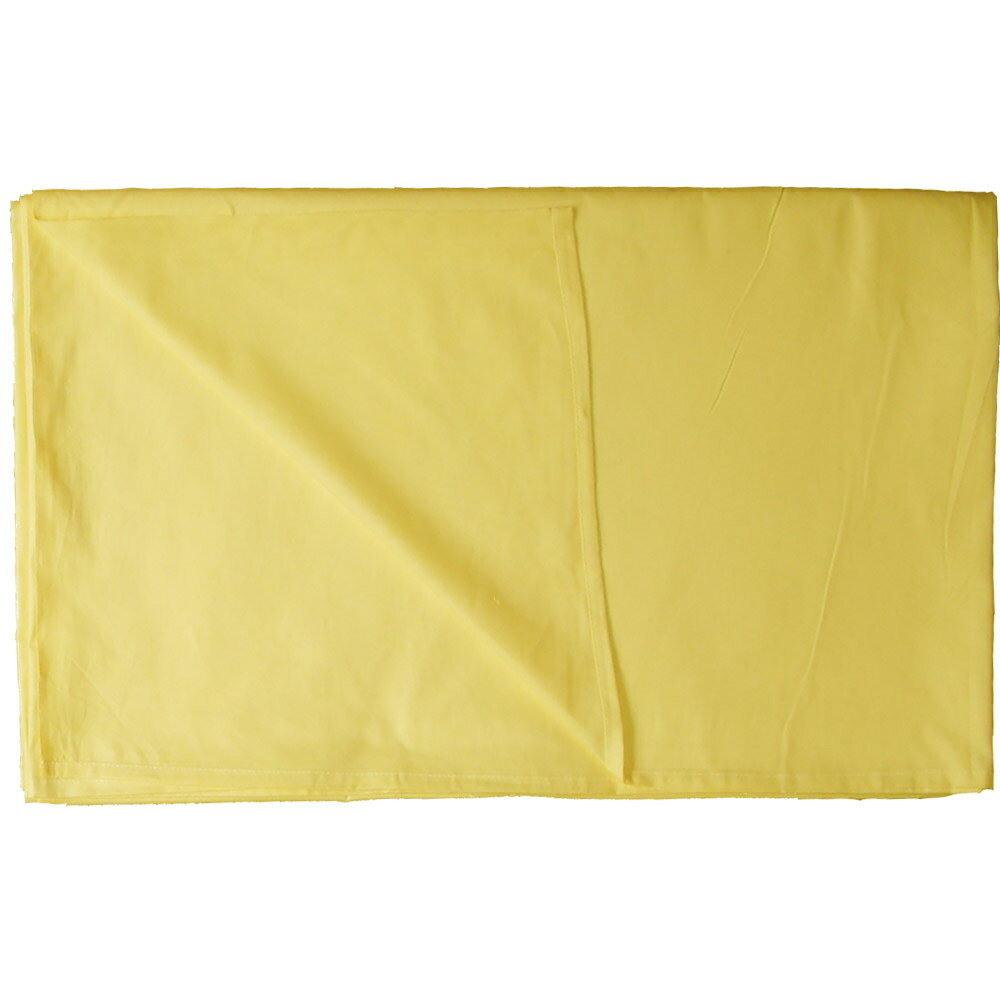 【アウトレット】【業務用】綿100% カラーシーツ 228×290cm クリーム(イエロー)