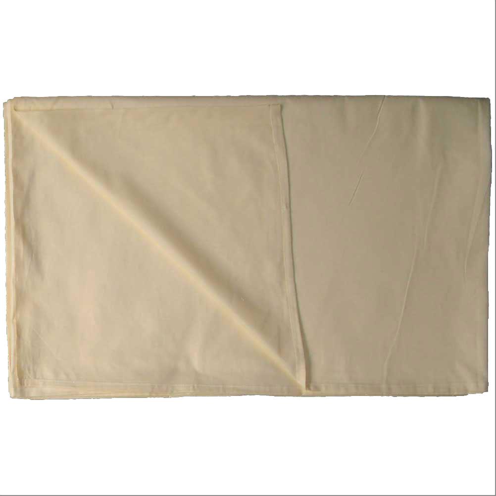 【アウトレット】【業務用】綿100% カラーシーツ 228×290cm ベージュ(薄い茶色)