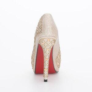 パンプスハイヒールオープントゥ厚底パーティキャバヒール結婚式キャバ嬢レッドソールビジューキラキラレディース女性用靴ピンヒール12cmヒール日本メーカーBENEDETTAベネデッタpmp1h-hic-jecabaj3276