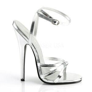 即納あす楽ハイヒールサンダルミュールシルバー(銀)ストラップピンヒールレディースシューズ靴キャバヒールポールダンスバーレスクダンスsdl1h-spc-mtDOM108S