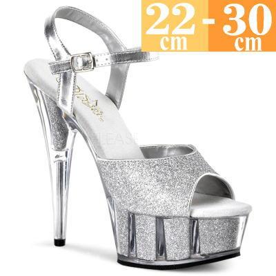 【お取り寄せ品】厚底サンダル シルバー【ピンヒール レディース 靴 女装 大きいサイズ C-GEM】DEL609-5GS(type)