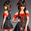Puffy nipples straining Halloween cosplay costumes pirate pirate costume fancy dress adult one-piece pirate Cap Hat Black Red taste sexy Halloween costume and cosplay cos COS compatible non-women Halloween costumes