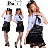 COP cosplay police cosplay costume guard uniform costume Lady COP teacher COP police S series career work play cosplay costume uniform fancy dress event Party included non-women Halloween costume
