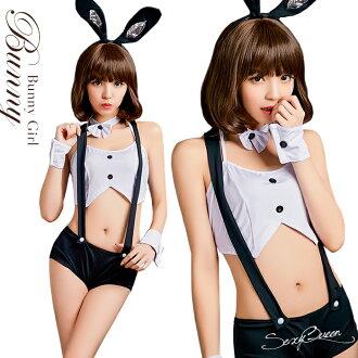 角色扮演兔女郎 cosplay 服裝兔子服裝萬聖節服裝性感蕭邦工作服黑色和白色的兔子耳朵服裝成人事業浮腫和 cos 因為存儲白色娛樂不能的女式情趣禮品 _ 包裝