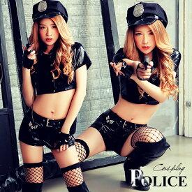 ハロウィン コスプレ ポリス 婦警 警察 制服 レディース ハロウィン仮装 衣装 コスチューム衣装 ブラック コスチュームセット こすぷれ 婦人警官 コス パーティー イベント 大人用 通販